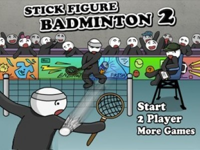 Stick Figure Badminton II game